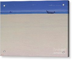 Fishing Boats At Puvar, Kerala  Acrylic Print