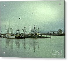 Acrylic Print featuring the photograph Fishing Boats Columbia River by Susan Parish