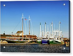 Fishing Boats In Cape May Harbor Acrylic Print