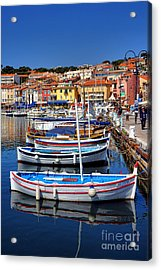 Acrylic Print featuring the photograph Fishing Boats In Cassis by Olivier Le Queinec