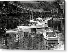 Acrylic Print featuring the photograph Fishing Boats In Maine Port by Olivier Le Queinec