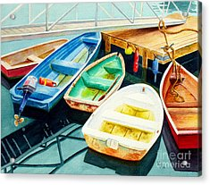 Fishing Boats Acrylic Print by Karen Fleschler
