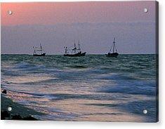 Fishing Boats Acrylic Print by Michael Mogensen