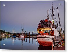 Fishing Boats Waking Up For The Day Acrylic Print