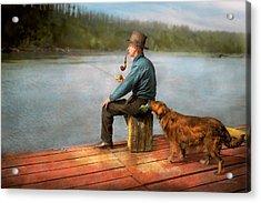 Fishing - Booze Hound 1922 Acrylic Print by Mike Savad
