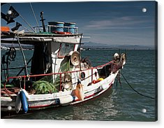 Acrylic Print featuring the photograph Fishing by Bruno Spagnolo