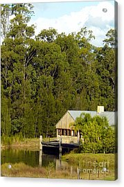 Fishing Cabin Acrylic Print