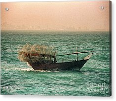 Acrylic Print featuring the photograph Fishing Dhow by Charles McKelroy