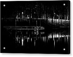 Acrylic Print featuring the photograph Fishing Dock At Night 2017  by Thomas Young