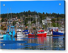 Fishing Fleet At Newport Harbor Acrylic Print