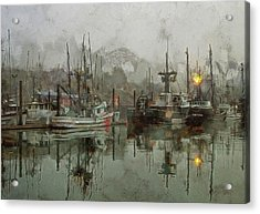 Fishing Fleet Dock Five Acrylic Print