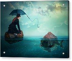 Fishing-for A Woman ..! Acrylic Print