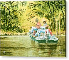 Fishing For Mullet Acrylic Print