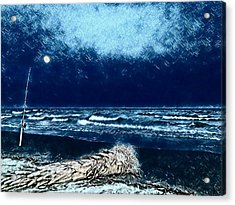 Fishing For The Moon Acrylic Print