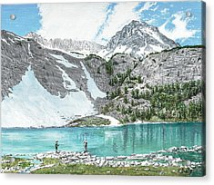 Acrylic Print featuring the painting Fishing Gem Lake by Kevin Daly