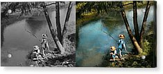 Fishing - Gone Fishin' - 1940 - Side By Side Acrylic Print