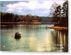 Acrylic Print featuring the photograph Fishing Hot Springs Ar by Diana Mary Sharpton
