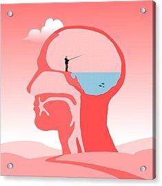 Fishing Ideas Acrylic Print by Nestor PS
