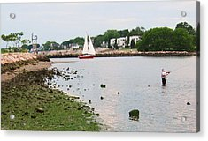 Fishing In Connecticut Acrylic Print