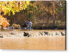 Acrylic Print featuring the photograph Fishing In Fall by Sheila Brown