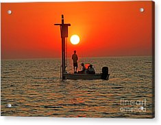 Fishing In Lacombe Louisiana Acrylic Print