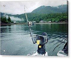 Acrylic Print featuring the photograph Fishing   In Se Alaska by Judyann Matthews