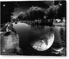 Fishing In The Moonlight Acrylic Print