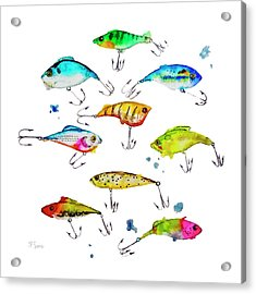 Fishing Is Fly No4 Acrylic Print by Roleen  Senic