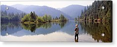 Fishing, Lewiston Lake, California, Usa Acrylic Print by Panoramic Images