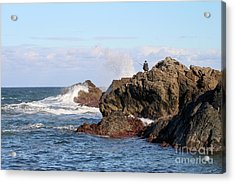 Acrylic Print featuring the photograph Fishing by Linda Lees