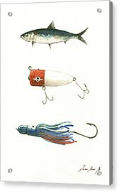 Fishing Lures Acrylic Print by Juan Bosco