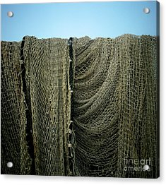 Fishing Net Acrylic Print by Bernard Jaubert
