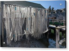 Acrylic Print featuring the photograph Fishing Net by Fran Riley
