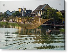 Fishing Net In Vietnam Acrylic Print