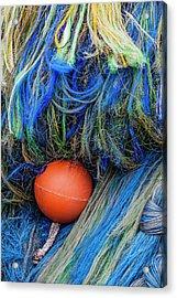 Fishing Nets And Buoy Acrylic Print