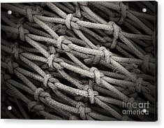 Fishing Nets Acrylic Print by Clare Bevan