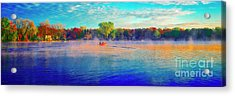 Fishing On Crystal Lake, Il., Sport, Fall Acrylic Print