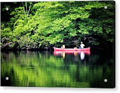 Fishing On Shady Acrylic Print by Lana Trussell