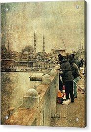 Fishing On The Bosphorus Acrylic Print