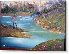 Fishing On The Fly Acrylic Print