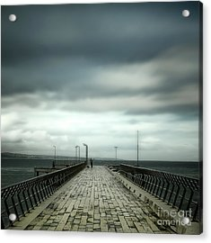 Acrylic Print featuring the photograph Fishing Pier by Perry Webster