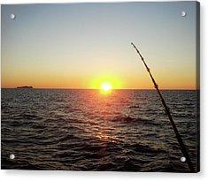 Fishing Pole Taken On 35mm Film Acrylic Print