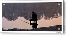 Acrylic Print featuring the photograph Fishing by R Thomas Berner