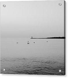 Fishing Acrylic Print by Stelios Kleanthous