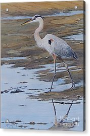 Fishing The Mud Flats...sold  Acrylic Print