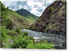 Fishing The Snake Waterscape Art By Kaylyn Franks Acrylic Print
