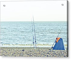 Fishing Acrylic Print by Tom Gowanlock