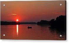 Fishing Until Sunset Acrylic Print