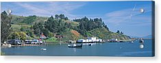 Fishing Village In Spring Along Highway Acrylic Print by Panoramic Images