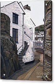 Fishing Village Acrylic Print by Jiji Lee